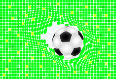 Ball broken green baskground Royalty Free Stock Image