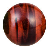 Ball from bull's eye natural mineral gemstone Royalty Free Stock Images