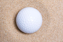 Ball in bunker Royalty Free Stock Photos