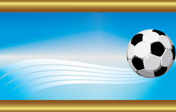 Ball. Business card with the image of football Royalty Free Stock Photos