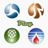 Ball button Royalty Free Stock Images