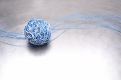Ball of cable global network. Concept Stock Photo