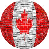 Ball with Canada flag in brick style Stock Photo