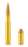 Ball cartridge with a bullet vector illustration Stock Photos