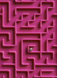Ball At The Centre Of Maze Stock Image