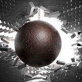 Ball and chain. 3d image of huge ball and chain Royalty Free Stock Images