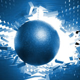 Ball and chain. 3d image of huge ball and chain Stock Images