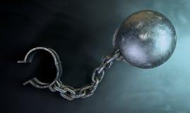 Ball And Chain Dark Stock Photos