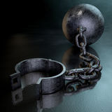 Ball And Chain Dark Royalty Free Stock Photos