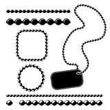 Ball chain frames. Stencil for borders, dividers Royalty Free Stock Images