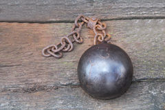 Ball and Chain. Royalty Free Stock Photo