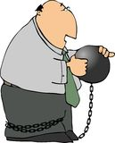 Ball & Chain Man Stock Image