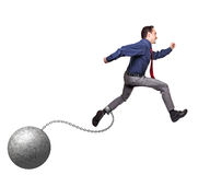 Ball and chain Royalty Free Stock Photos