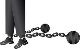 Ball and chain restraining Stock Photo