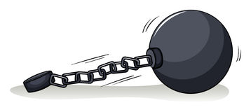Ball with a chain Stock Images
