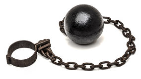 Ball and chain Stock Image