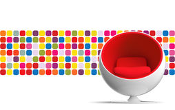 Ball chair. Isolated. Image include hand drown vector clipping path for remove background Royalty Free Stock Photos