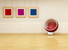 Ball chair in a classic lounge Stock Image