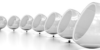 Ball Chairs White Stock Images