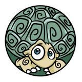 Ball character turtle cartoon Royalty Free Stock Image