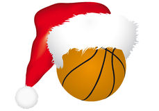 Ball with christmas hat Stock Photography