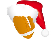 Ball with christmas hat Stock Image