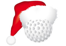 Ball with christmas hat