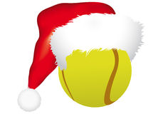 Ball with christmas hat Royalty Free Stock Photography