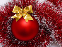 Ball Christmas red Stock Images
