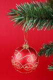 ball christmas red Στοκ εικόνα με δικαίωμα ελεύθερης χρήσης