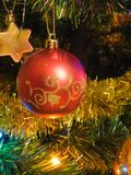 ball christmas red Στοκ Φωτογραφίες