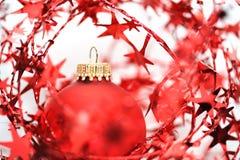 ball christmas red stars Στοκ εικόνες με δικαίωμα ελεύθερης χρήσης