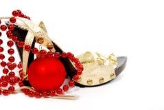 ball christmas shoes Στοκ εικόνες με δικαίωμα ελεύθερης χρήσης