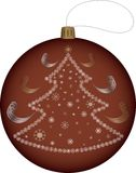Ball on the Christmas tree Stock Photos
