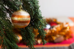Ball on Christmas Tree for Christmas and New Year Decoration Royalty Free Stock Photography