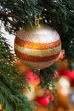 Ball on Christmas Tree for Christmas and New Year Decoration in Royalty Free Stock Image