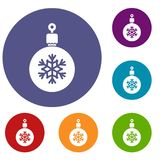 Ball for the Christmas tree icons set Royalty Free Stock Images
