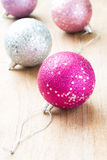 Ball for the Christmas tree. The photo on the white background Royalty Free Stock Image