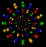 The ball circles. This is the background. This is the colored balls lined up in a perspective Stock Photo
