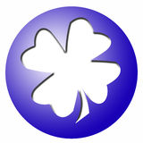 Ball with clover leaf Stock Images