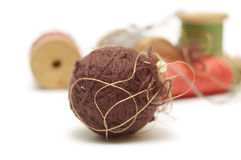 Ball and coils of thread Royalty Free Stock Photo