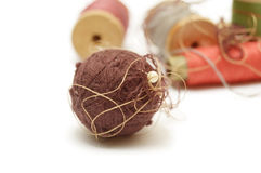 Ball and coils of thread Stock Photos