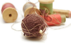Ball and coils of thread Royalty Free Stock Image