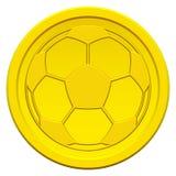 Ball on coin Stock Photos