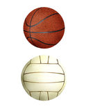 Ball collection - handball & basketball Stock Photo
