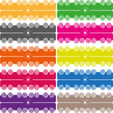 Ball colored stripe pattern Stock Photography