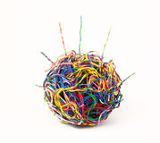 Ball of colored wire Royalty Free Stock Images