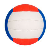 Ball with colorful stripes. Ball with green, red and blue stripes, sport concept Royalty Free Stock Photos