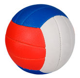 Ball with colorful stripes. Ball with green, red and blue stripes, sport concept Royalty Free Stock Photography