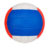 Ball with colorful stripes. Ball with green, red and blue stripes, sport concept Royalty Free Stock Image